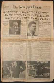 New York Times Kennedy Assasination