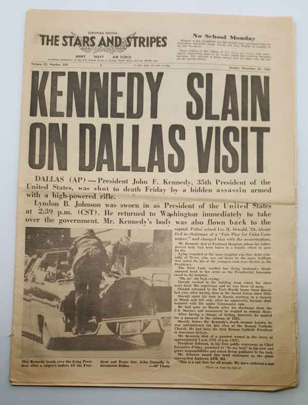 John F Kennedy Newspapers
