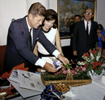 John F Kennedy at his Last Birthday Party